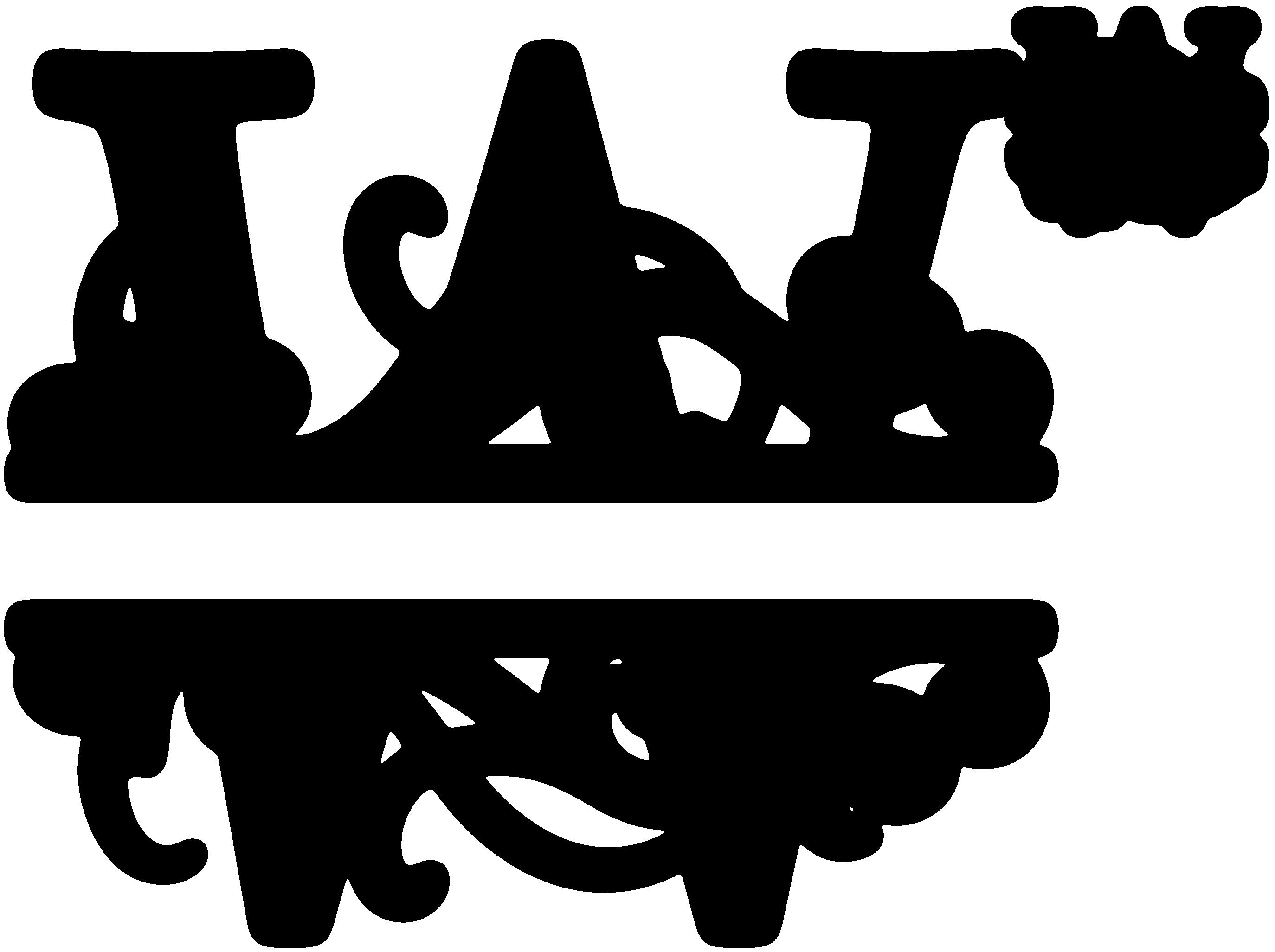 monogram clipart w split monogram