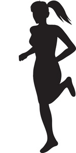 Woman Jogging Silhouette