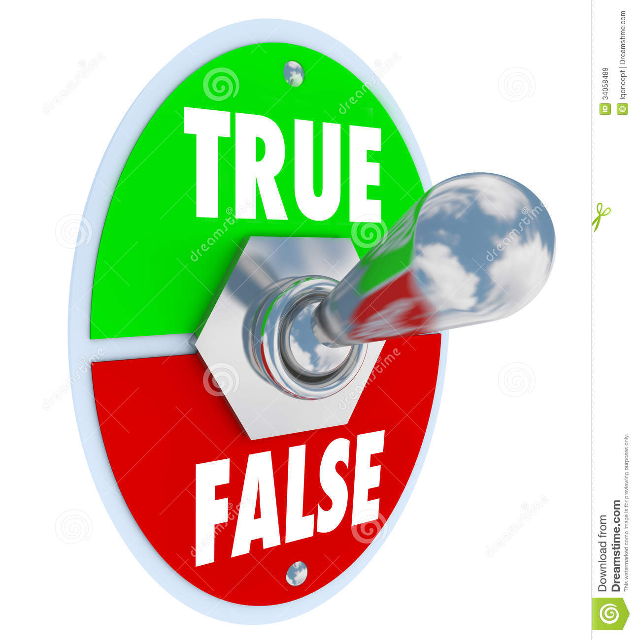 True Or False Clipart