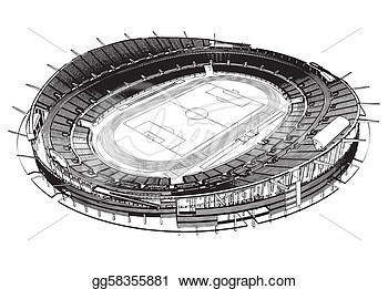 Vector Art   Football Soccer Stadium   Clipart Drawing Gg58355881