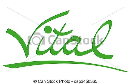 Vital As A Fine Green Lettering All    Csp3458365   Search Clipart