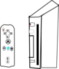 Wii Game Controller Clip Art Wii Device With Joystick Clip Art