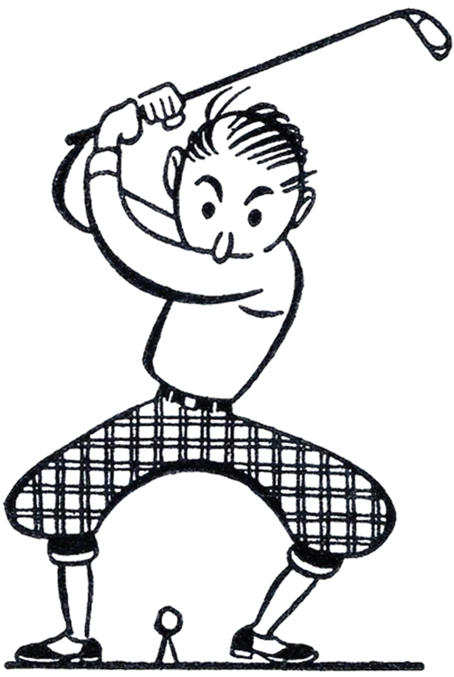 funny golf black and white clipart clipart suggest