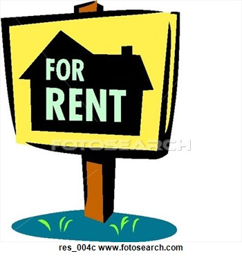 Clip Art   For Rent Sign