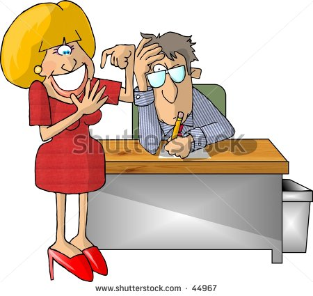 Clipart Illustration Of A Hiring Interview   44967   Shutterstock