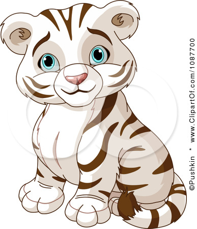 Cute Tiger Clipart Black And White 1087700 Clipart Cute White Tiger
