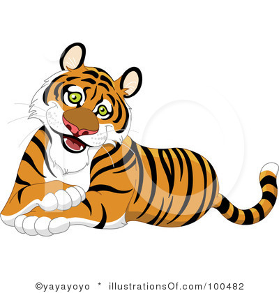 Cute Tiger Clipart Black And White   Clipart Panda   Free Clipart