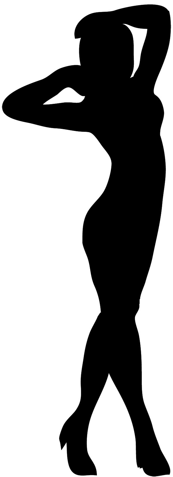 Female Silhouette Silhouette With Outline Black Outline Silhouette