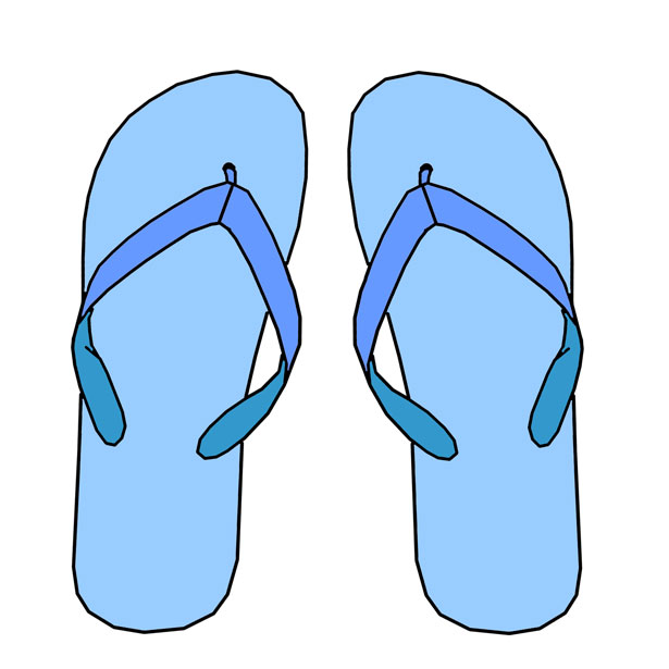 Hawaiian Flip Flop Clipart - Clipart Kid