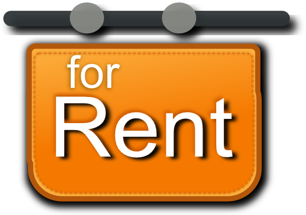 For Rent Sign Clip Art At Clker Com   Vector Clip Art Online Royalty