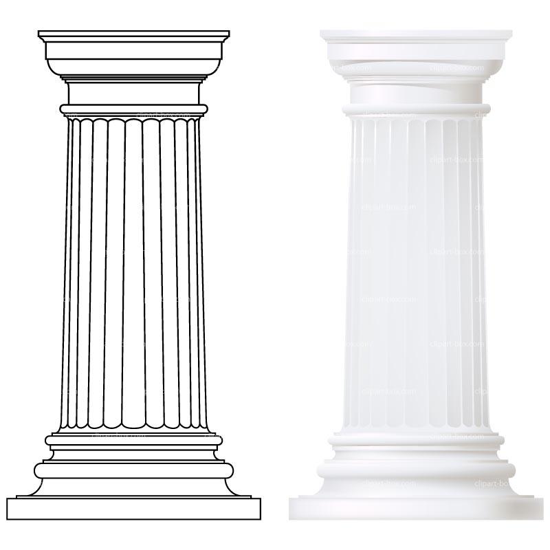 Greek Columns Clipart - Clipart - 38.2KB