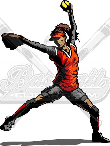 Girls Fastpitch Softball Clipart Fastpitch Softball Pitcher