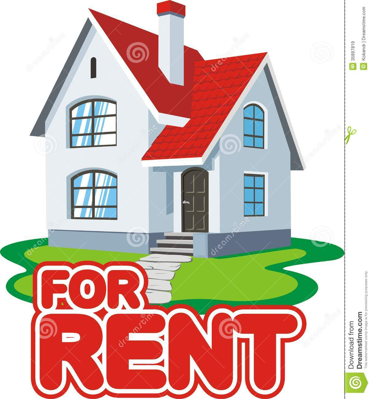 House For Rent Royalty Free Stock Images   Image  35897819