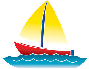 Marina Clipart Clip Art Illustration Of A Boat Sailing On The Ocean