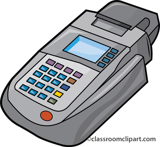Money   Credit Card Machine 1110   Classroom Clipart