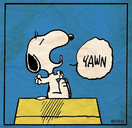 Peanuts Gang Things Goodnight Morning Snoopy Yawn Charlie Brown