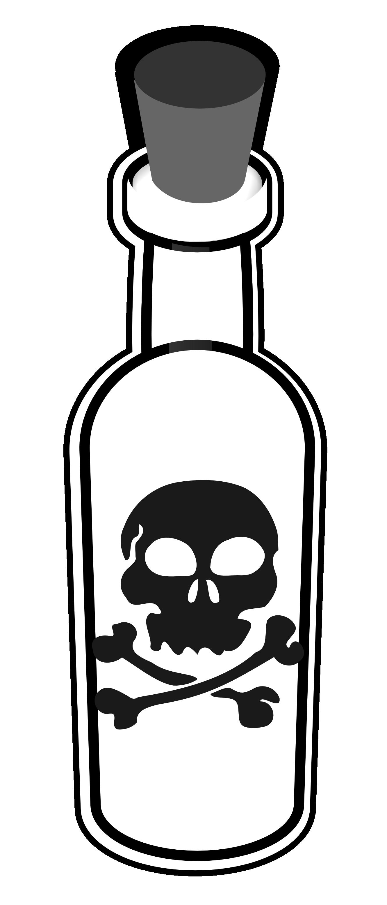 Poison Bottle Black White Line Art Tatoo Tattoo Svg   Clipart Best