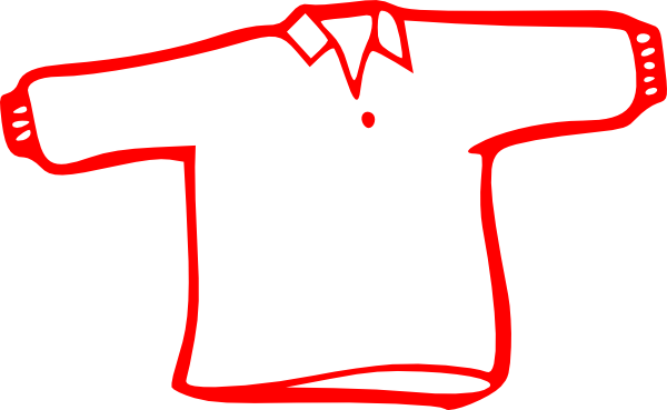 Red Long Sleeve Shirt Clip Art At Clker Com   Vector Clip Art Online