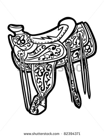 Saddle   Retro Clipart Illustration   82394371   Shutterstock
