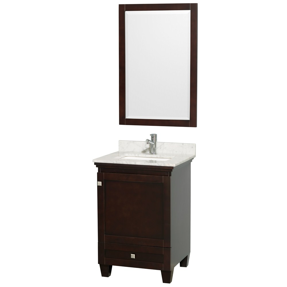 Acclaim 24 Espresso Bathroom Vanity Set Solid Oak Vanity