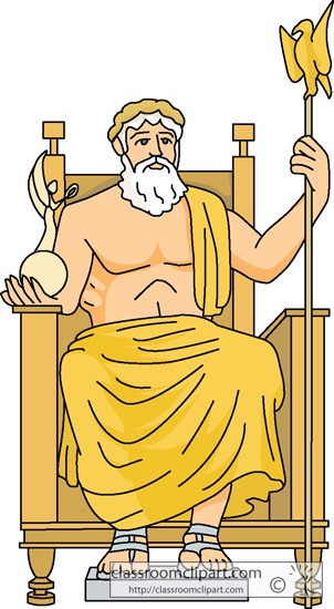Ancient Greece   The Statue Of Zeus At Olympia   Classroom Clipart