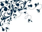 Blue Flourish Clipart Blue Heart Clipart Blue Vine Accent Clipart