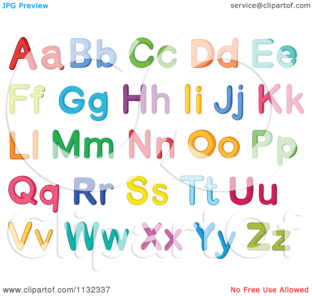 Worksheets Alphabet  Letter alphabet letter i clipart kid cartoon of colorful letters royalty free vector clipart