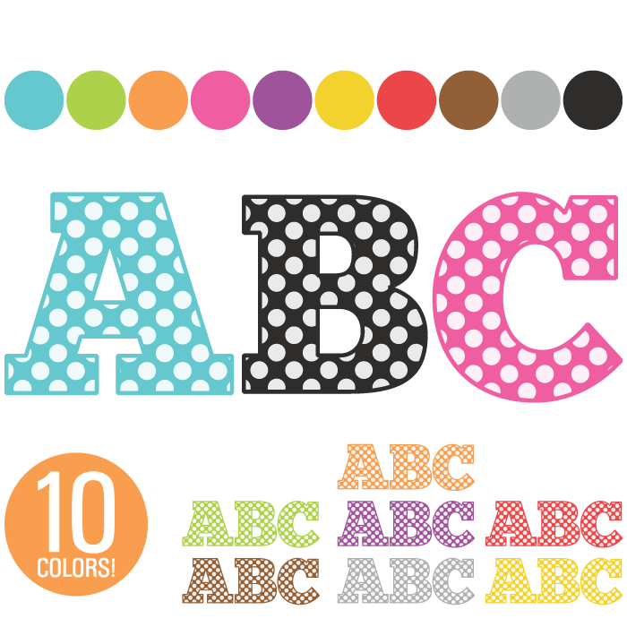 Individual Alphabet Letters Clipart - Clipart Kid
