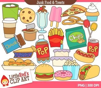 Clip Art   Junk Food And Treats   Food Themed Clipart     Little Red S