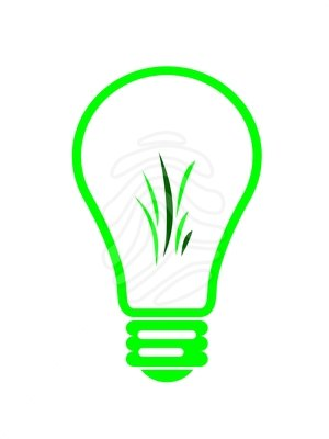 Clip Art Of An Energy Efficent Light Bulb Clipart