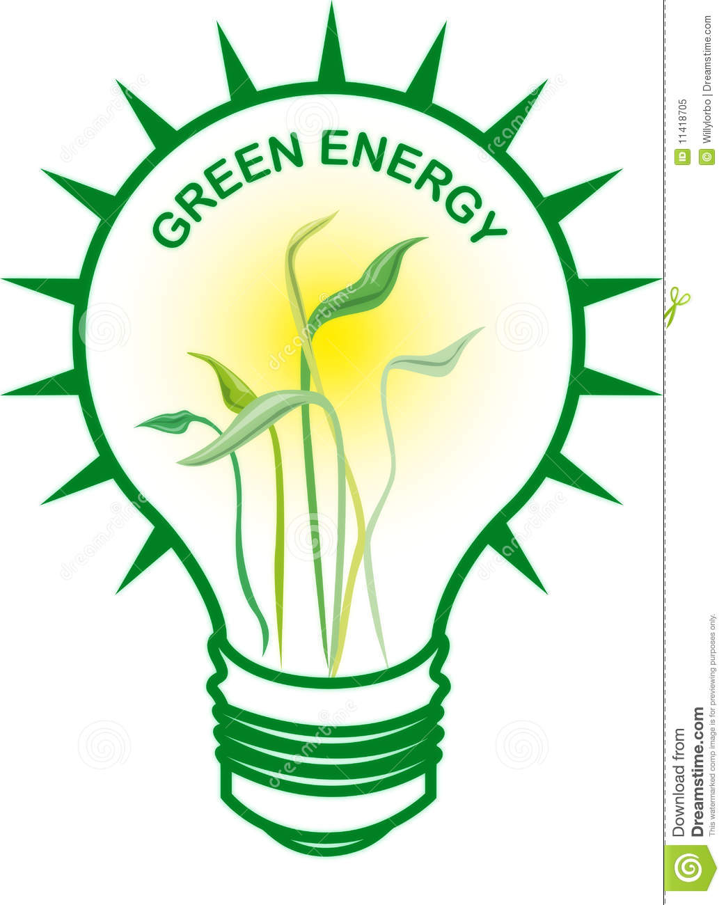Green Energy Bulb Royalty Free Stock Photo   Image  11418705