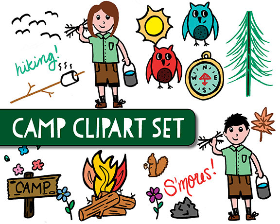 Outdoors Clip Art Instant Download Camp Clipart #eP29t5 - Clipart Kid