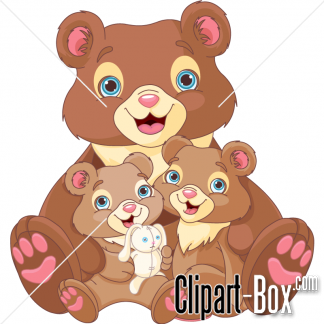Related Bears Family Cliparts