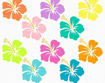 Clip Art Hawaiian Tropical Flowers