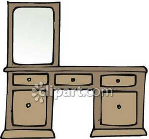 Vanity With A Mirror   Royalty Free Clipart Picture