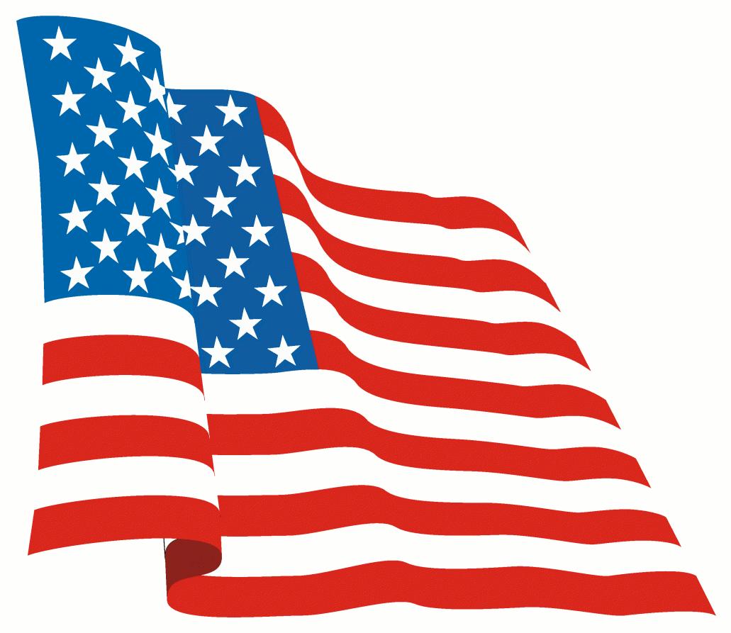 Waving American Flag P...