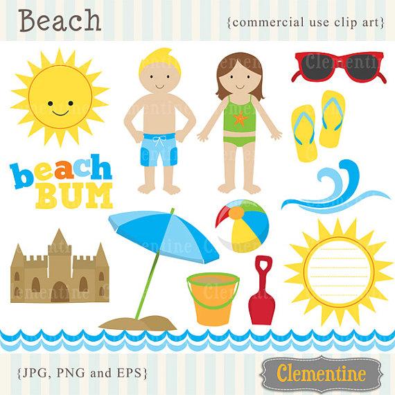 Beach Items Clipart - Clipart Suggest