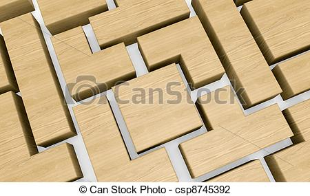 Closeup Of A Wooden Puzzle Made With    Csp8745392   Search Clipart