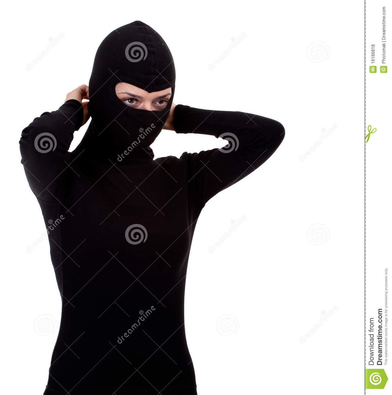 Female Thief Founding Balaclava Royalty Free Stock Photos   Image