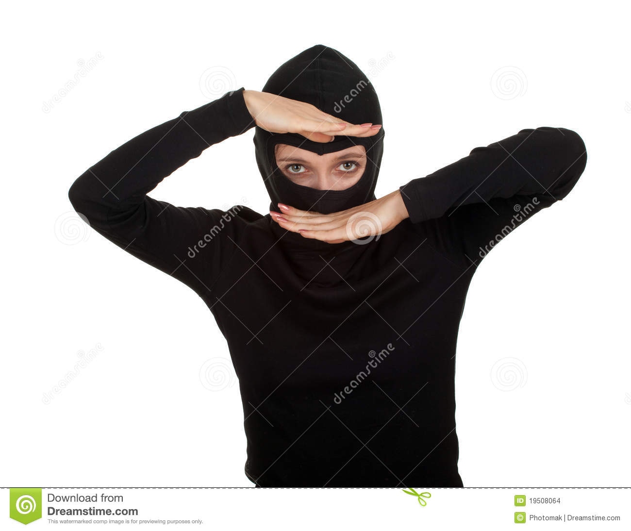 Female Thief In Black Balaclava Stock Images   Image  19508064