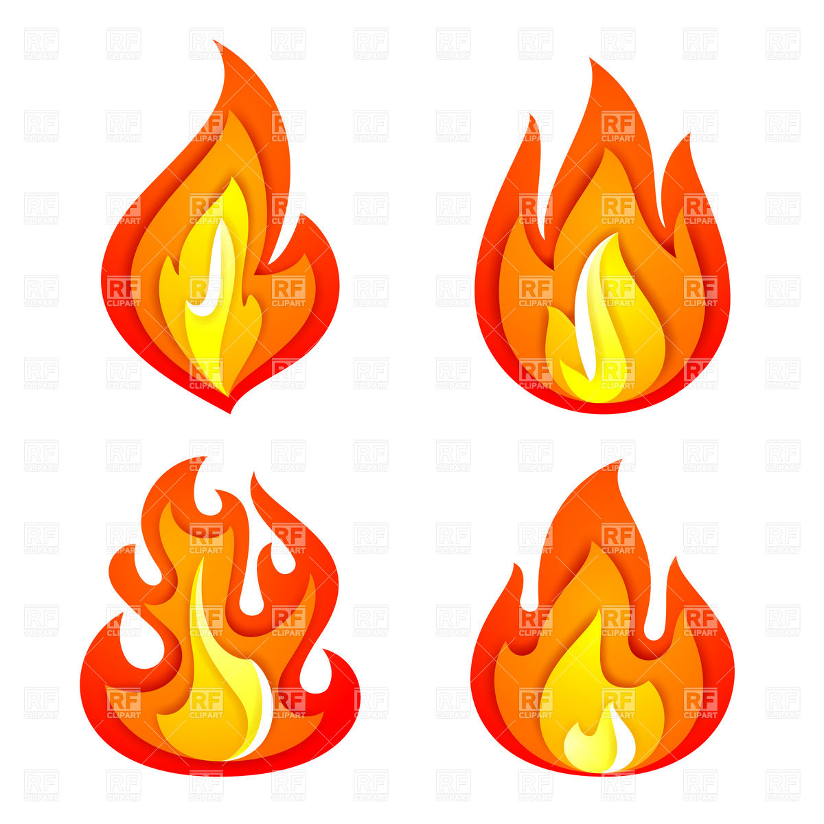 Fire And Flame Icons Download Royalty Free Vector Clipart  Eps