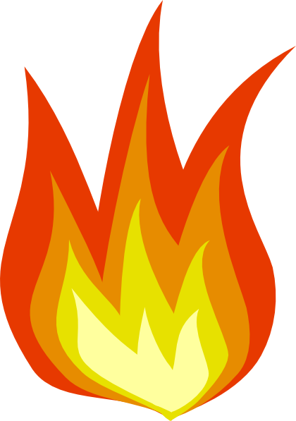 Fire Icon Clip Art At Clker Com   Vector Clip Art Online Royalty Free