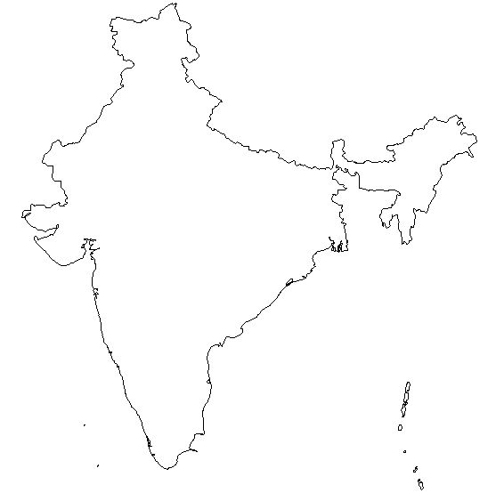 Free Blank Outline Map Of India India Information Outline Maps Index