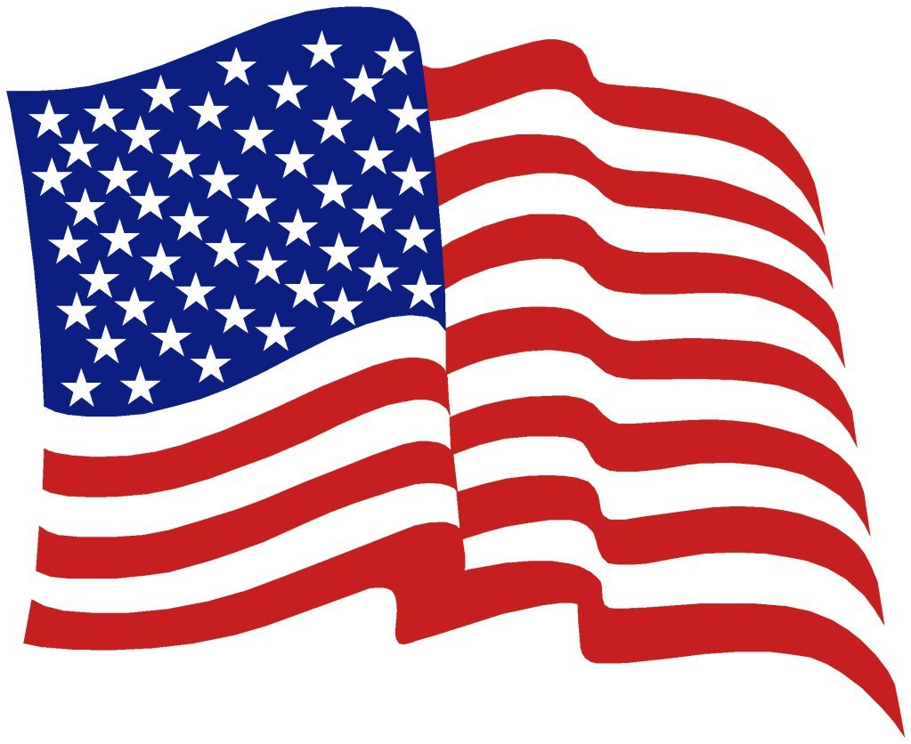 Wavy American Flag Antique Clipart - Clipart Kid