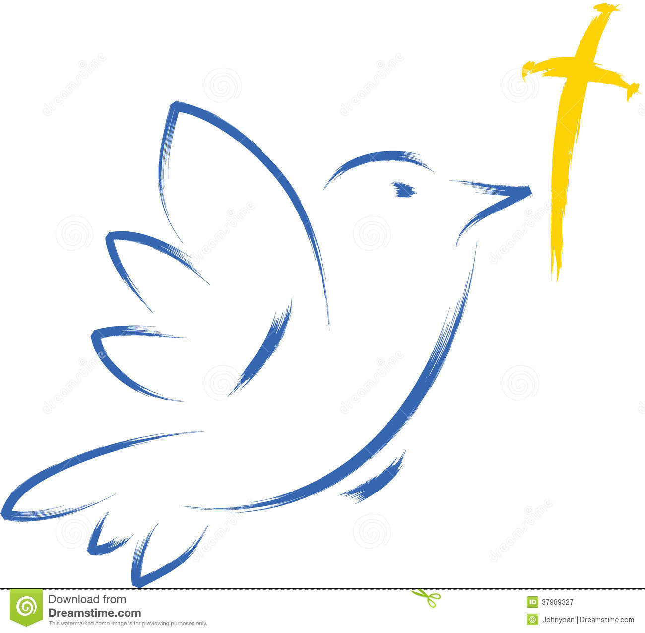 Funeral Dove Clipart Dove With Cross Royalty Free