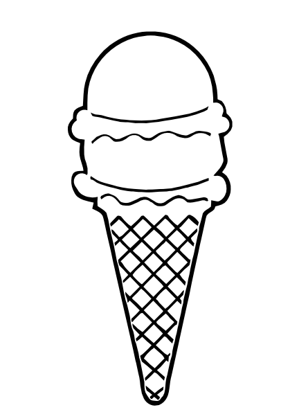 Ice Cream Cone Outline Clip Art At Clker Com   Vector Clip Art Online