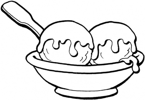 Ice Cream Sundae Clipart Black And White Sweet Ice Cream Coloring Page