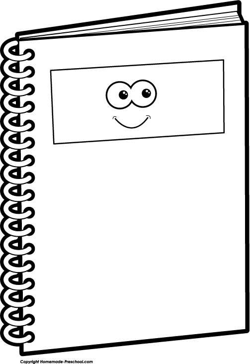 Notebook Clipart Black And White   Clipart Panda   Free Clipart Images