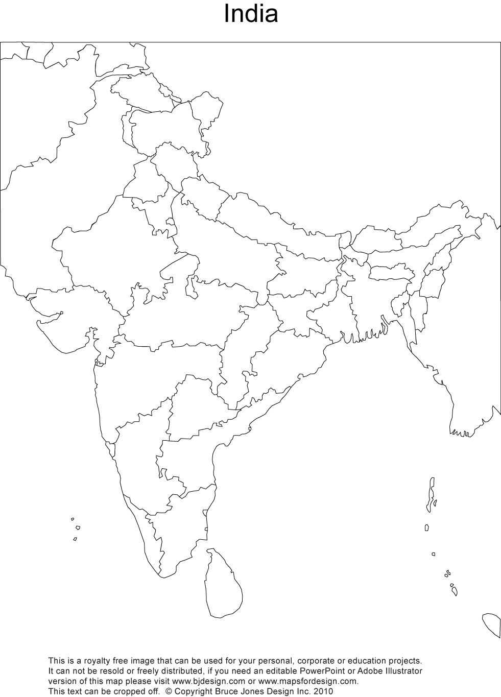 Printable Outline Map Of India For School Du An  Ech