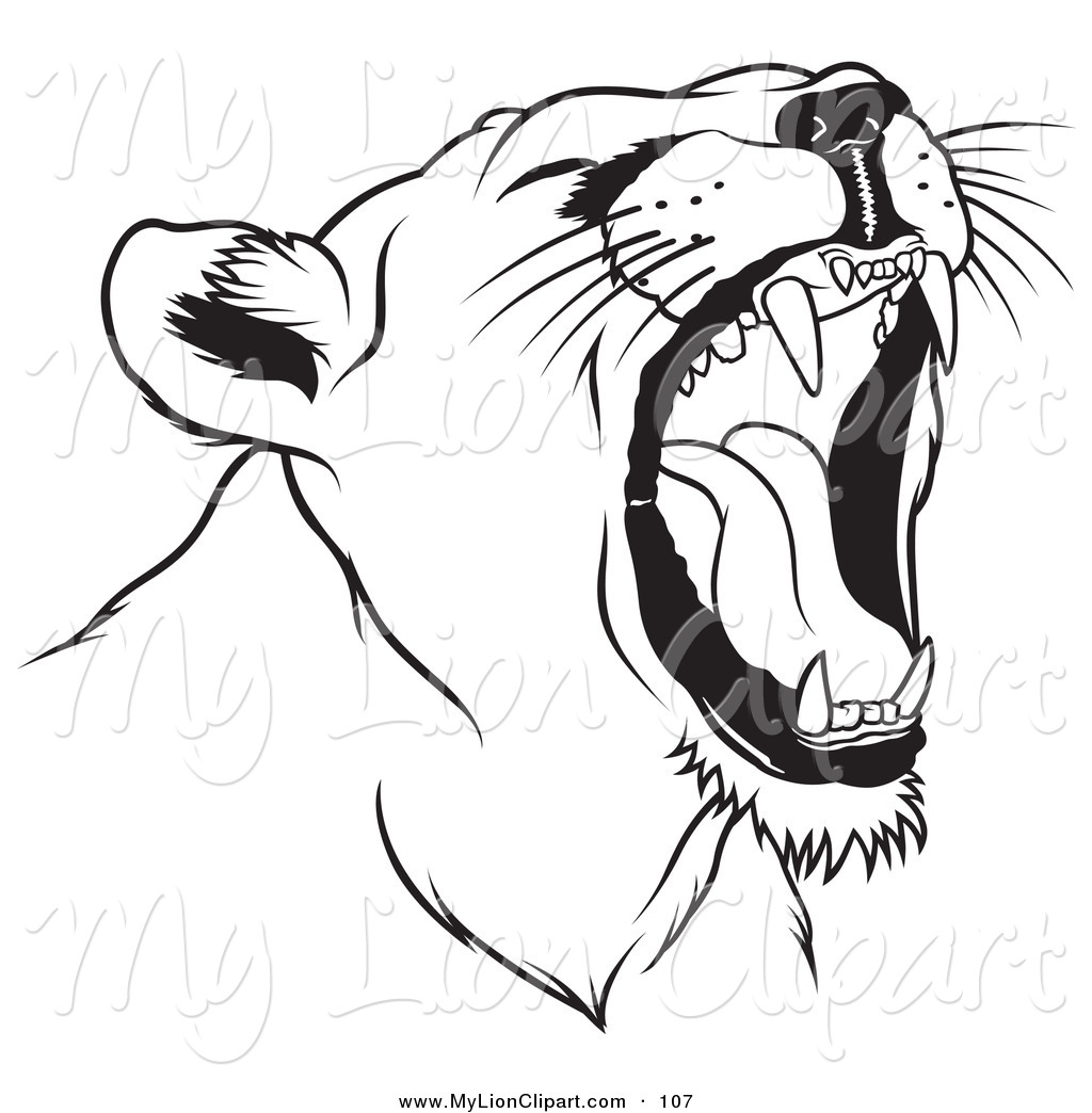 Roaring Lion Line Drawing - photo#10